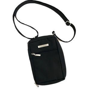 BAGGALLINI BLACK SMALL ZIP CROSSBODY BAG